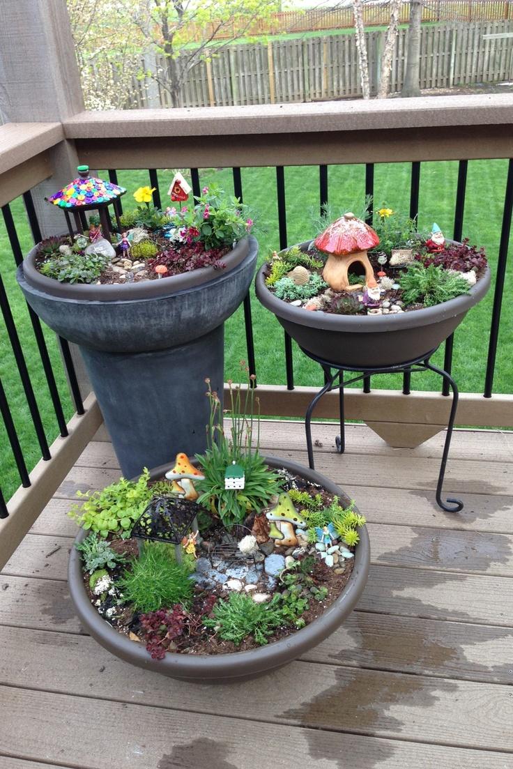 Patio Pot Fairy Gardens | 25+ Earth Day ideas