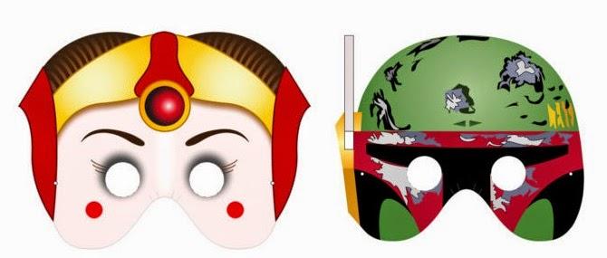 Star Wars Free Printable Masks | 25+ ways to celebrate Star Wars Day