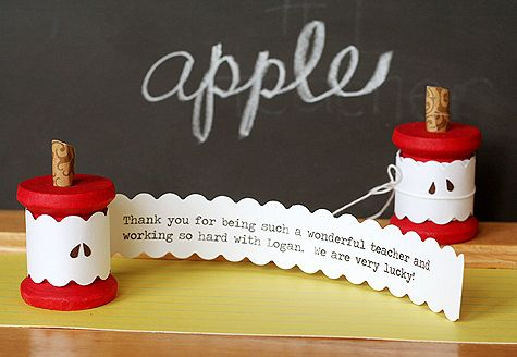 Teacher Apple Card | 25+ MORE Teacher Appreciation Week ideas