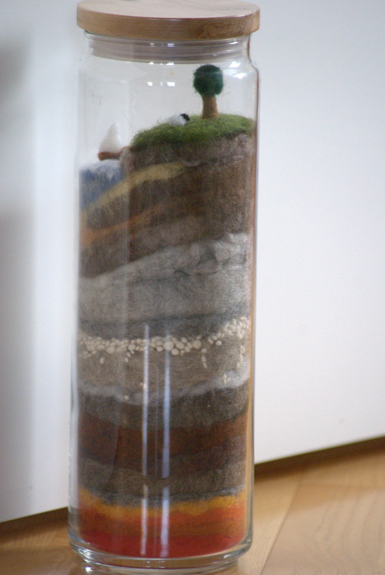 The Earth Layers in a Jar | 25+ Earth Day ideas