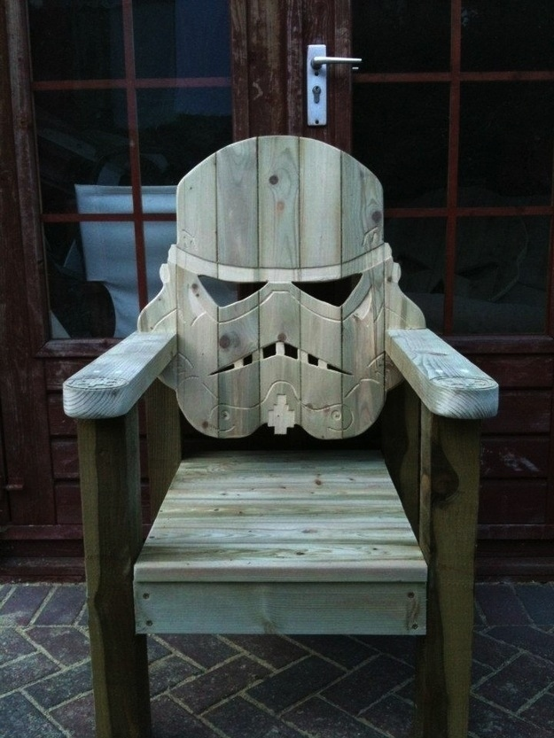 The Stormtrooper deck chair | 25+ ways to celebrate Star Wars Day