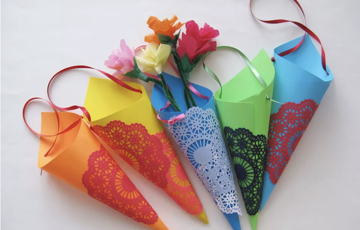 DIY Paper May Day cones | 25+ May Day ideas