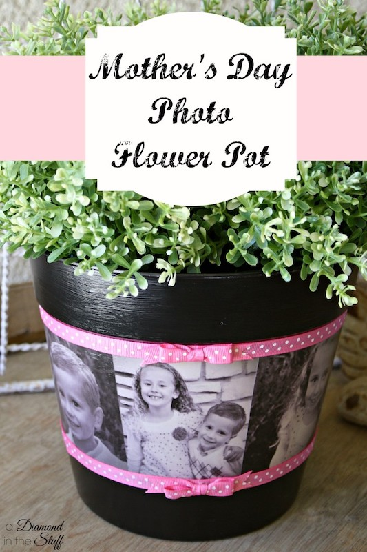 photo flower pot | Mother's Day gift