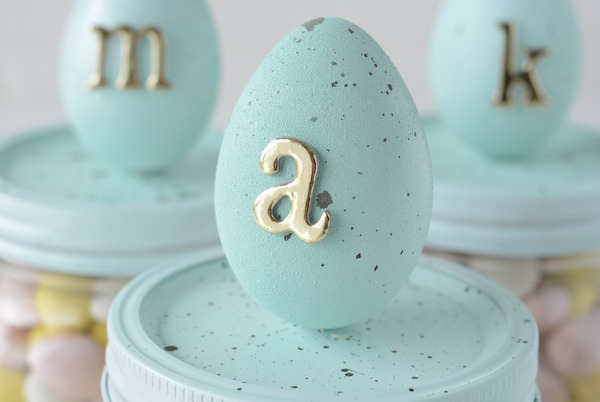 speckled egg candy mason jars | NoBiggie.net