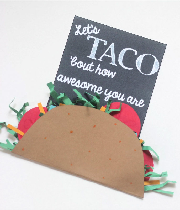 taco about how awesome you are | 25+ MORE teacher gift ideas