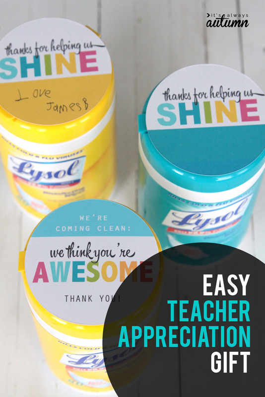 disinfectant wipes teacher gift | more teacher gifts
