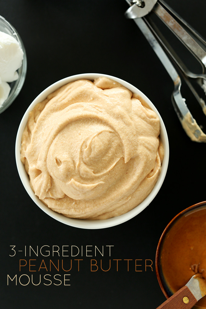 3 ingredient peanut butter mousse | 25+ Three Ingredient Recipes