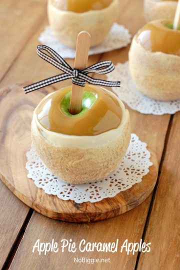 Apple Pie Caramel Apples