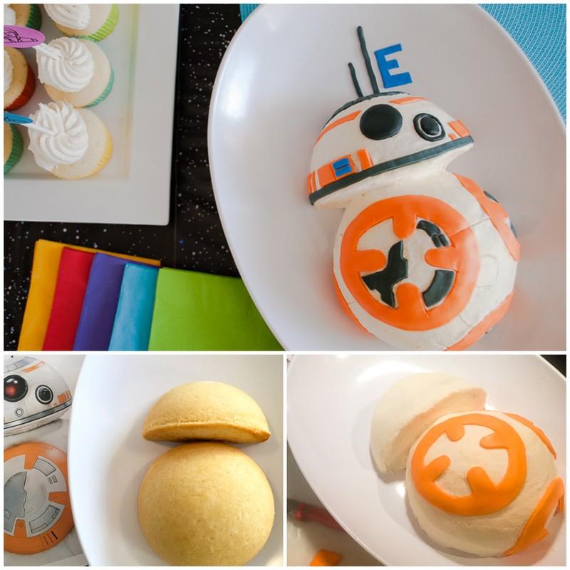 BB8 cake - how to | 25+ ways to celebrate Star Wars Day