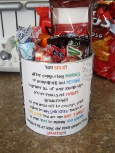 Candy Can | 25+ Graduation gift Ideas
