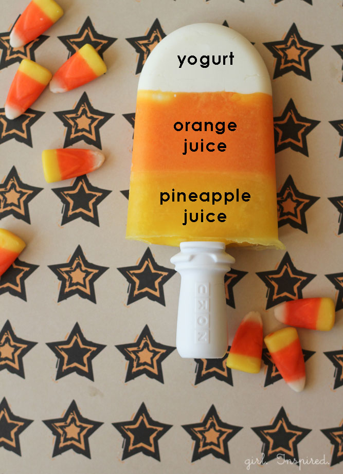 Candy Corn Popsicle | 25+ Popsicle Recipes