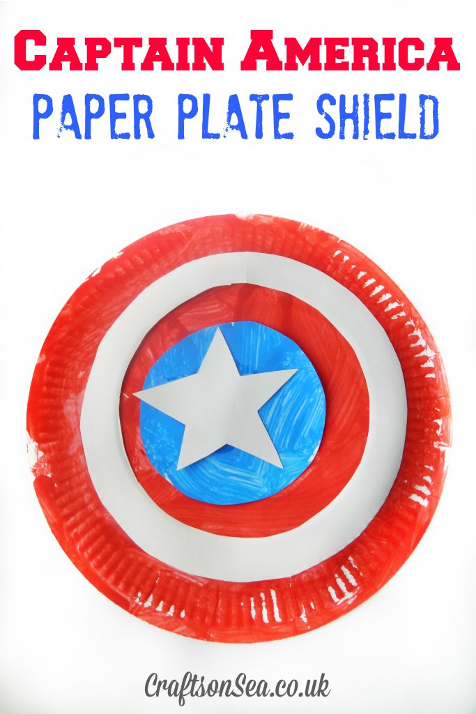 Captain America Paper Plate Shield | 25+ Paper Plate Crafts