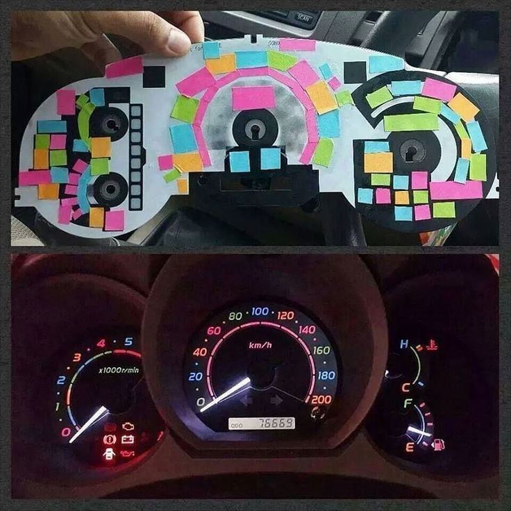 Color Your Dashboard | 25+ Post It Note DIY Ideas