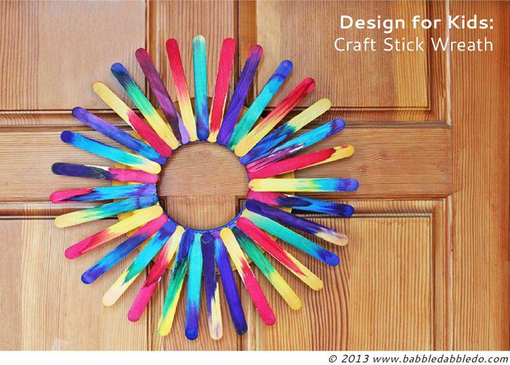 Craft Stick Wreath | 25+ Paper Plate Crafts