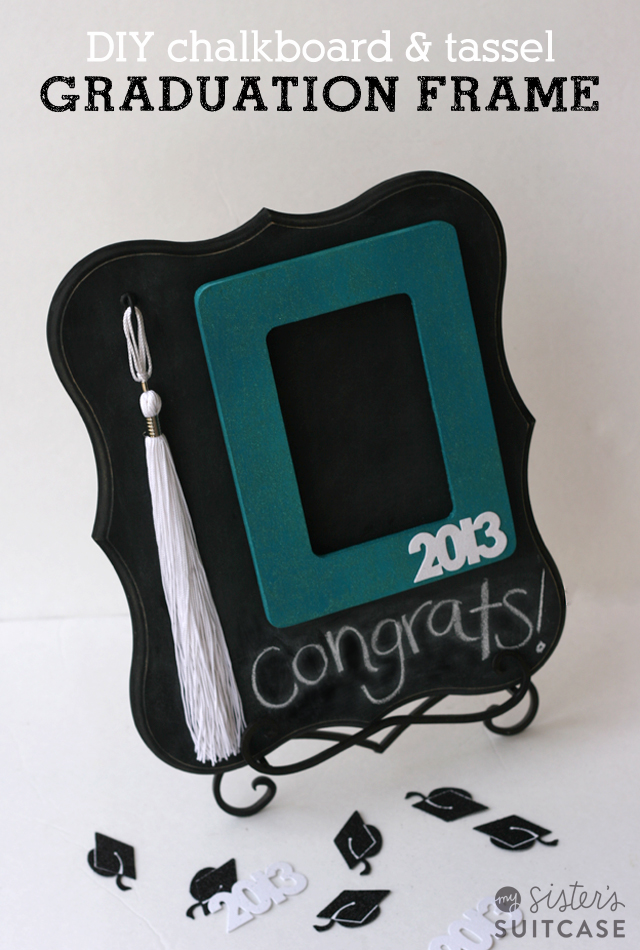 DIY Graduation Gift Chalkboard and Tassel Frame | 25+ Graduation gift Ideas