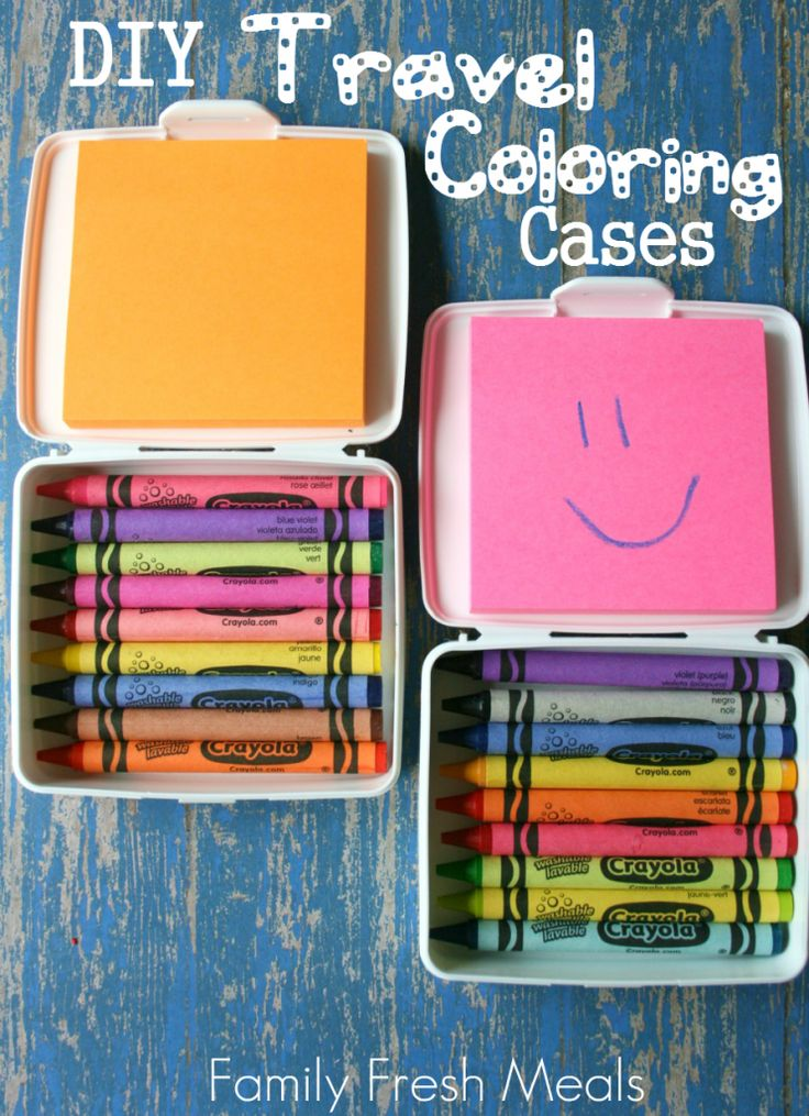 DIY Travel Coloring Case | 25+ Post It Note DIY Ideas