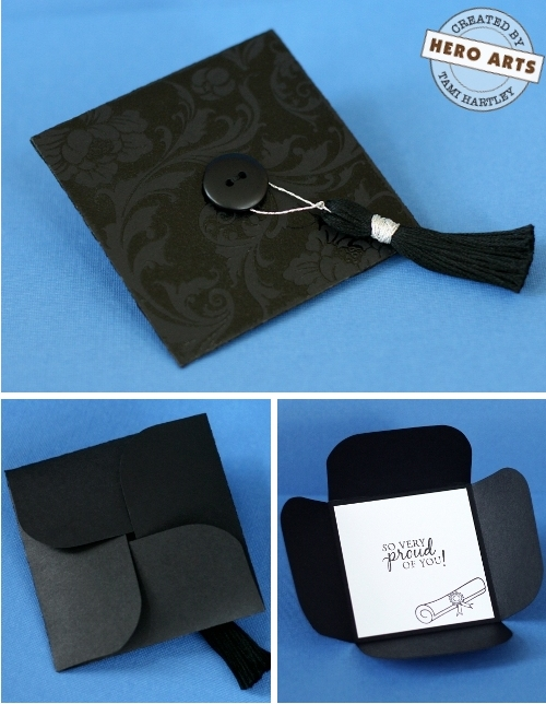 Folded Graduation Cap Card | 25+ Graduation gift Ideas