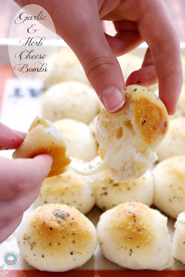 Garlic & Herb Cheese Bombs | 25+ Cheesy Appetizers and Dips