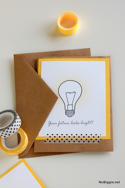 Bright Future Graduation Cards makes a cute handmade card for those graduates in your life. #graduationcards #graduation #brightfuture #DIY #handmadecards
