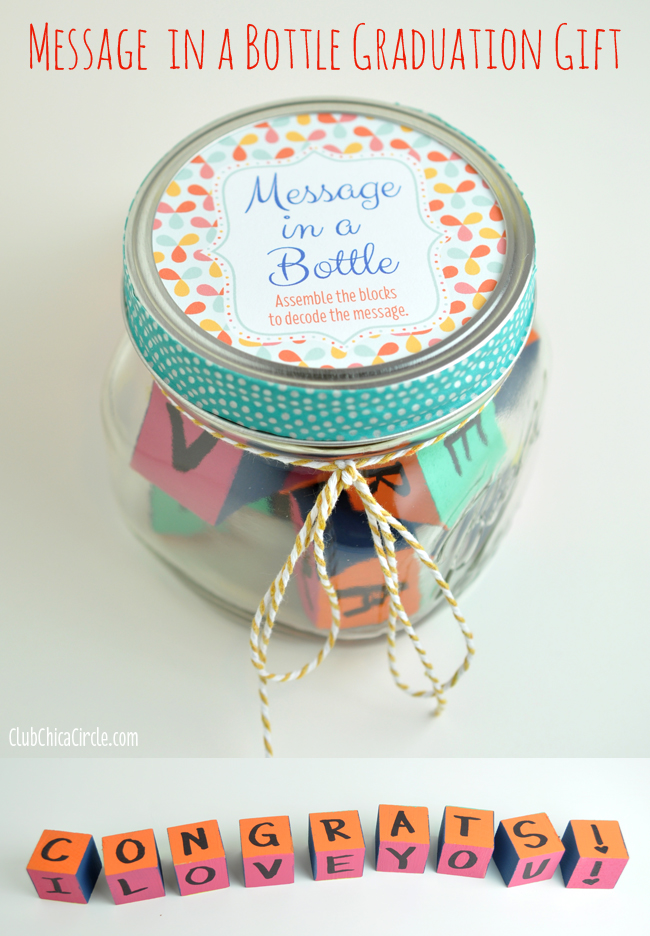 Message in a Bottle Graduation Gift | 25+ Graduation gift Ideas