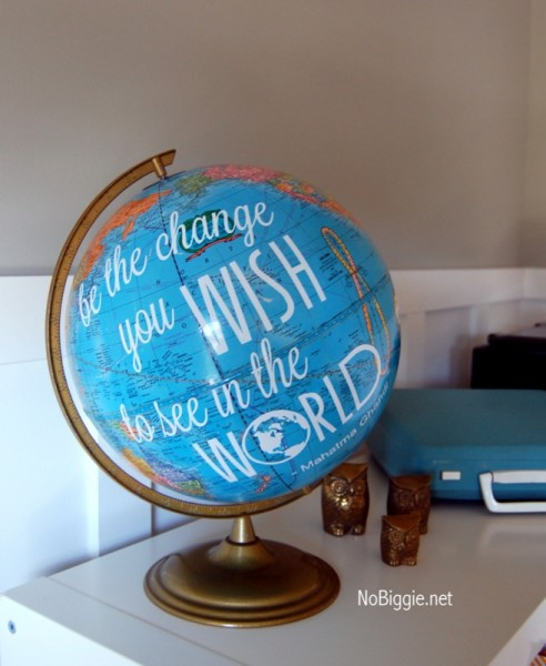 Globe With Gandhi Quote A Free Printable
