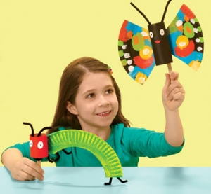 Paper-Plate Butterflies and Caterpillars | 25+ Paper Plate Crafts