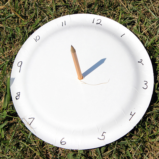 Paper plate sundial | 25+ Paper Plate Crafts