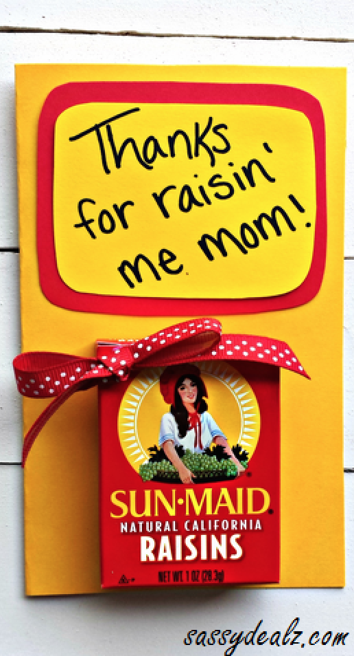 Raisin Mother's Day card | 25+ Mother's Day gift ideas