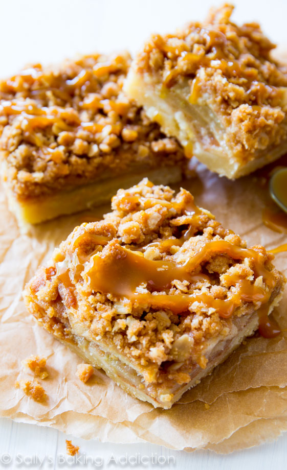 Salted Caramel Apple Pie Bars | 25+ Salted Caramel Desserts