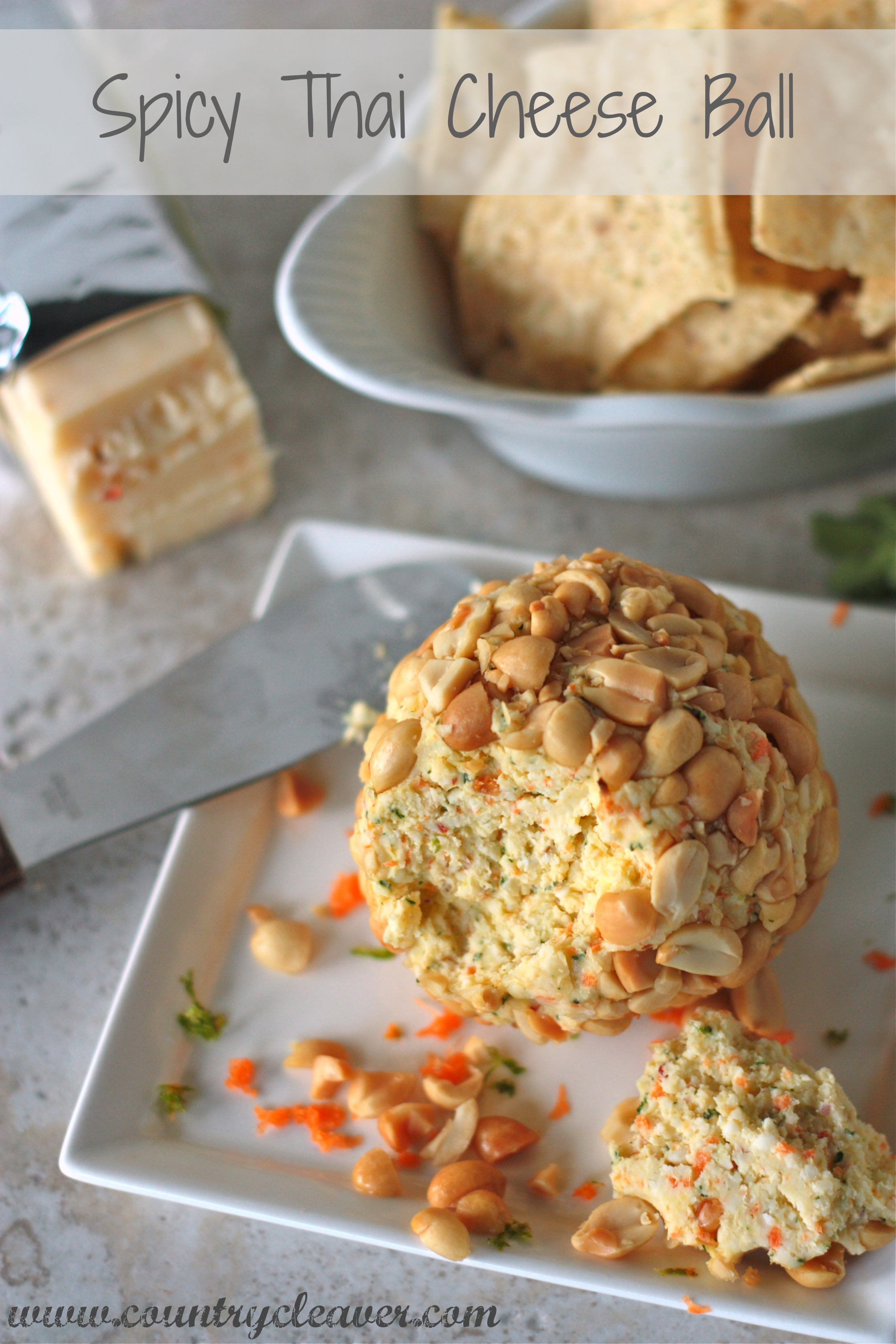 Spicy Thai Cheese Ball | 25+ Cheesy Appetizers and Dips