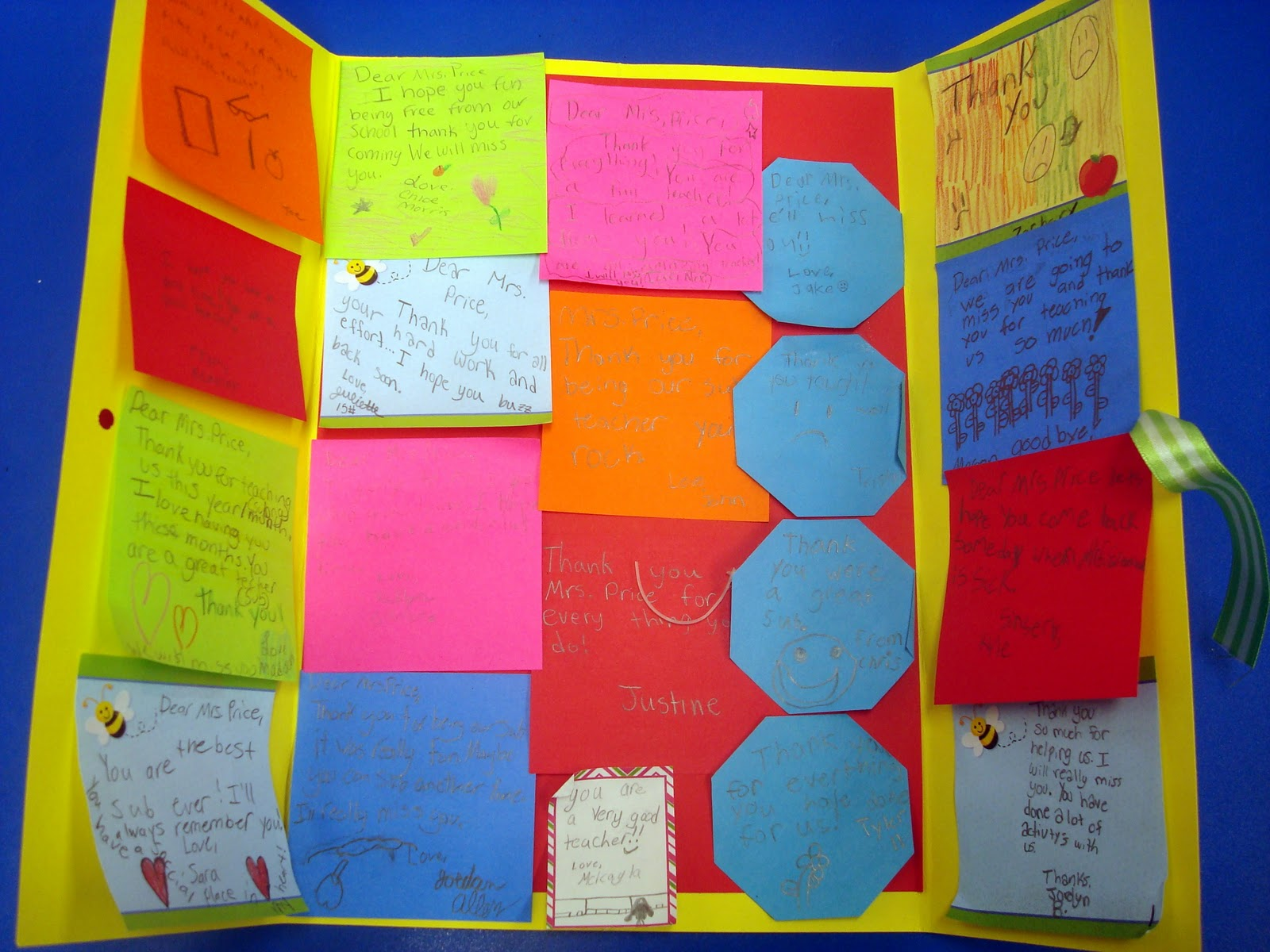 Giant Thank You Card | 25+ Post It Note DIY Ideas