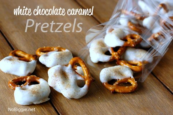 White chocolate caramel pretzels | 25+ Salted Caramel Desserts