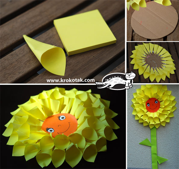 post it note Dahlia flower | 25+ post it note DIY ideas