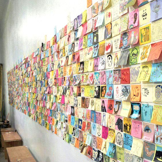 post it note art gallery | 25+ Creative Post it note ideas