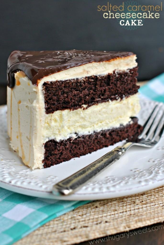 salted caramel cheesecake cake | 25+ Salted Caramel Desserts