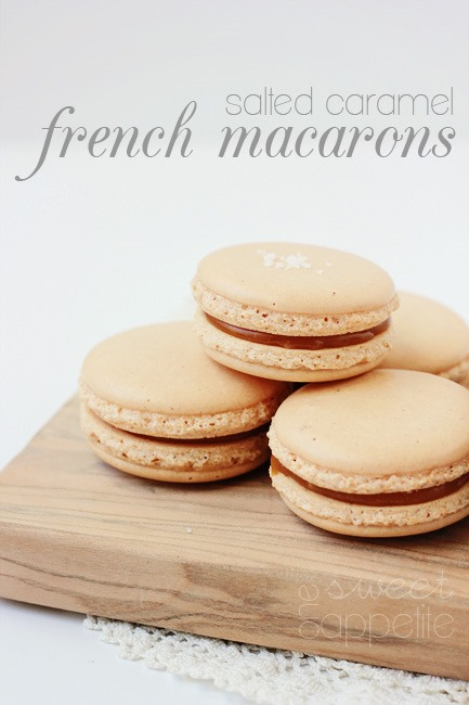 salted caramel french macarons | 25+ Salted Caramel Desserts