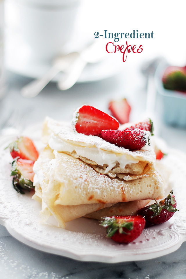 Two Ingredient Crepes | 25+ Two Ingredient Recipes