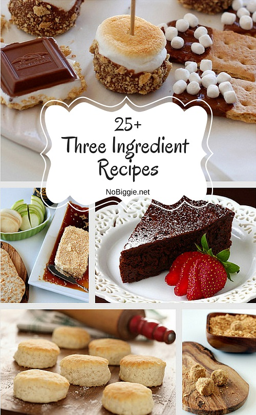 25+ Three Ingredient Recipes | NoBiggie.net