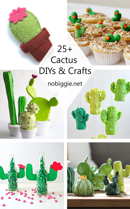 25 cactus crafts and diy nobiggie