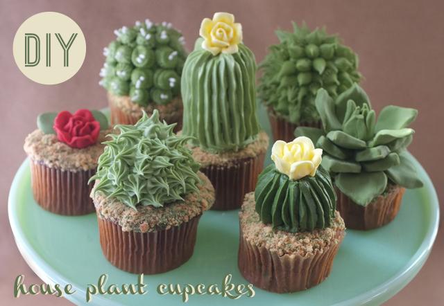 Cactus Cupcakes | 25+ Cactus crafts and DIY