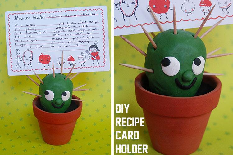 Cactus Recipe Card Holder | 25+ Cactus crafts and DIY