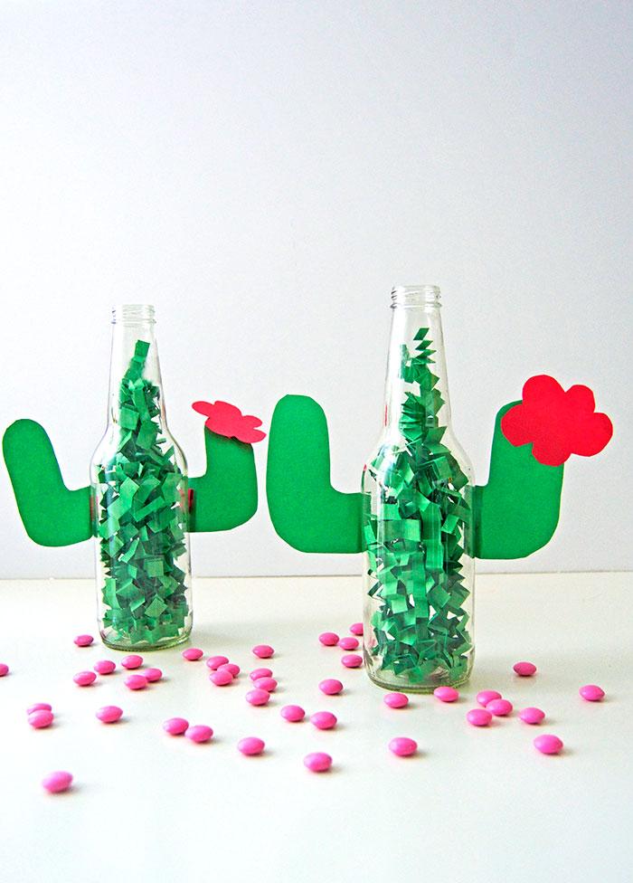 DIY Cactus Centerpiece | 25+ Cactus crafts and DIY