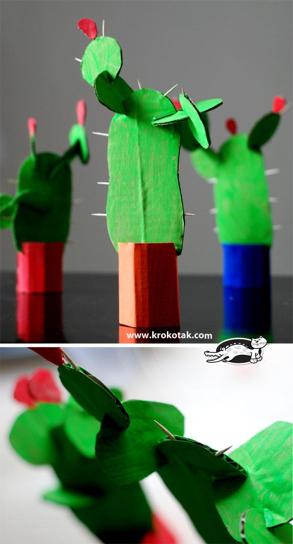 DIY Cardboard Cactus | 25+ Cactus crafts and DIY