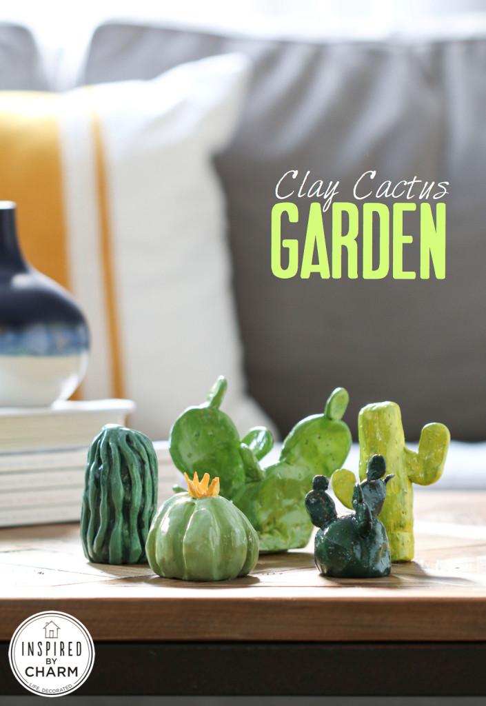 DIY Clay Cactus Garden | 25+ Cactus crafts and DIY