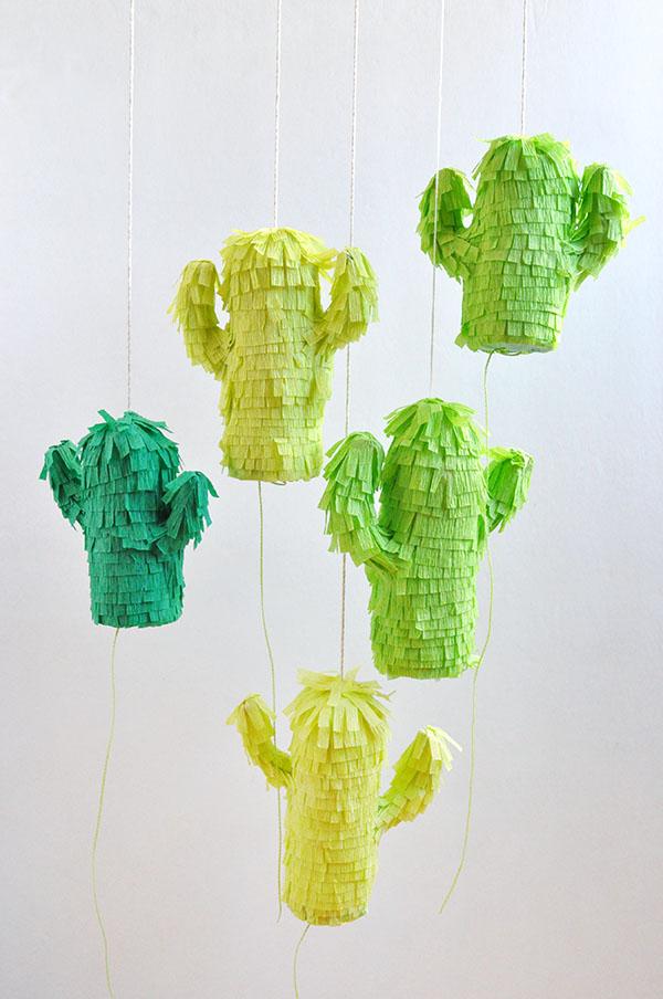 DIY Mini Cactus Piñatas | 25+ Cactus crafts and DIY