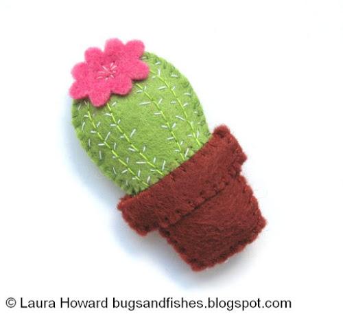 DIY Mini Felt Cactus | 25+ Cactus crafts and DIY