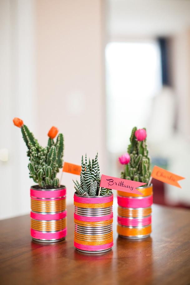 DIY Modern Cactus Wedding Place Card Favors | 25+ Cactus crafts and DIY