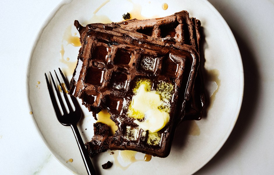 Dark Chocolate Waffles | 25+ Waffle Recipes