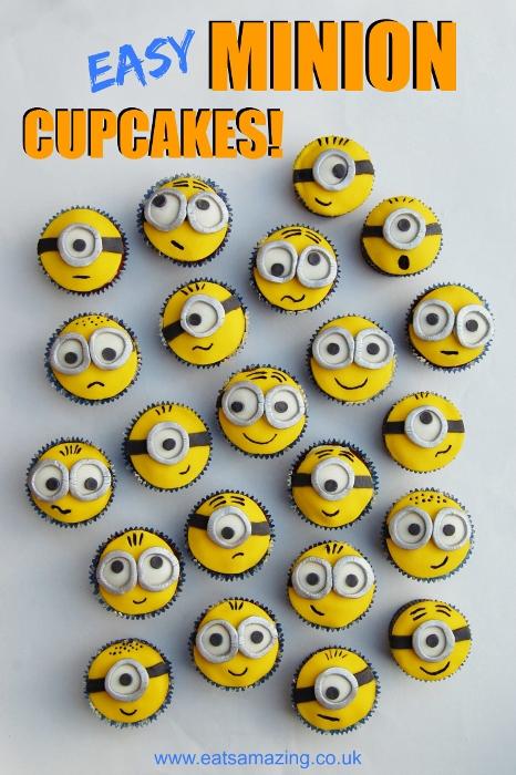 Easy minion cupcakes 25 minion party ideas