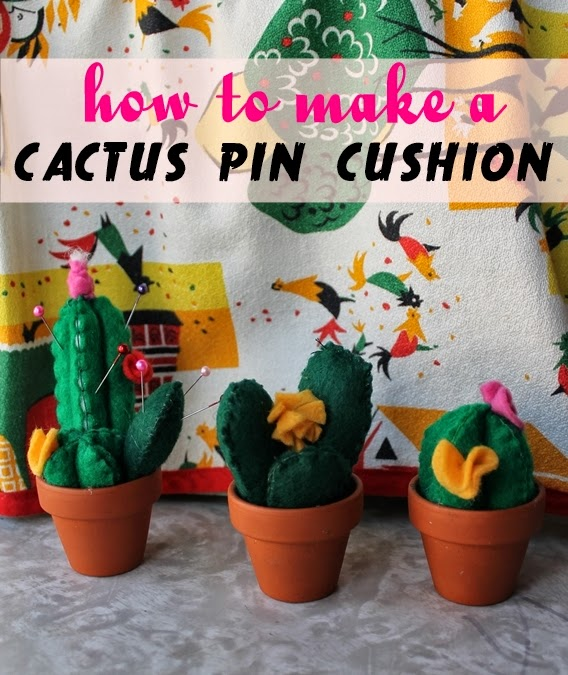 How to Make a Cactus Pin Cushion | 25+ Cactus crafts and DIY